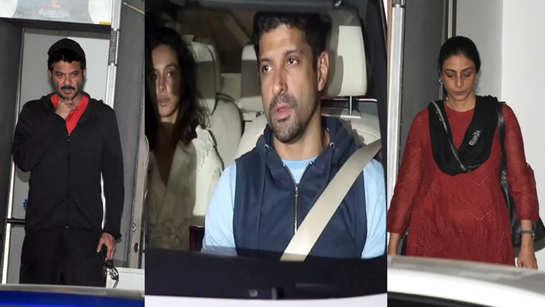 From Farhan Akhtar to Shibani Dandekar, Anil Kapoor to Tabu, celebs visit Shabana Azmi at Kokilaben hospital