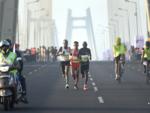 Srinu Bugatha First in Men's Elite Race