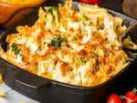 Cheese cauliflower pasta
