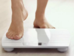 Step on the weighing scale