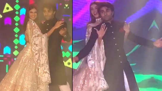 Tara Sutaria and Aadar Jain's chemistry is undeniable in this new viral video from Armaan Jain's wedding!