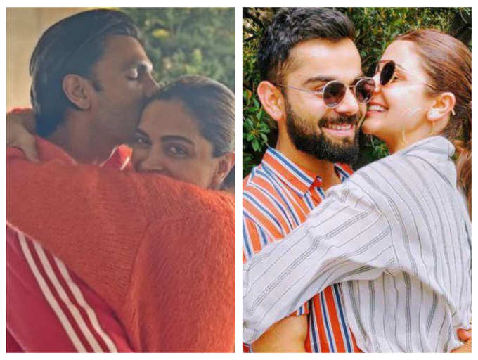 From Deepika Padukone Ranveer Singh To Anushka Sharma Virat Kohli Hugs Of Bollywood Couples That Will Leave You Feeling Warm And Blissful The Times Of India