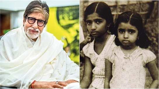Amitabh Bachchan treats fans with Lata Mangeshkar and Asha Bhosle's adorable childhood photo
