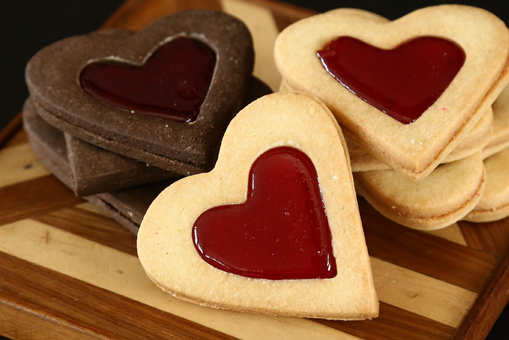 Valentine's Shortbread Cookies