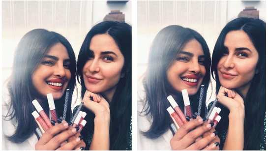 Girls just wanna have fun! Priyanka Chopra catches up with Katrina Kaif over shared love for makeup and 'kathak' while in Mumbai