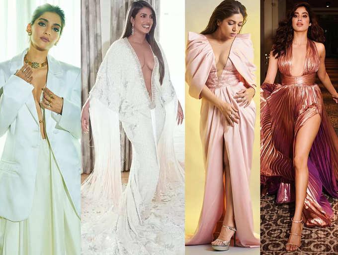 Priyanka Chopra To Bhumi Pednekar And Ileana D Cruz Bollywood Actresses Who Rocked A Plunging Neckline Dress The Times Of India