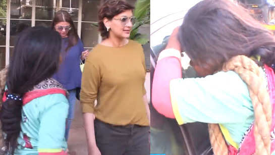 Watch how Sonali Bendre reacted on being stopped by an underprivileged girl