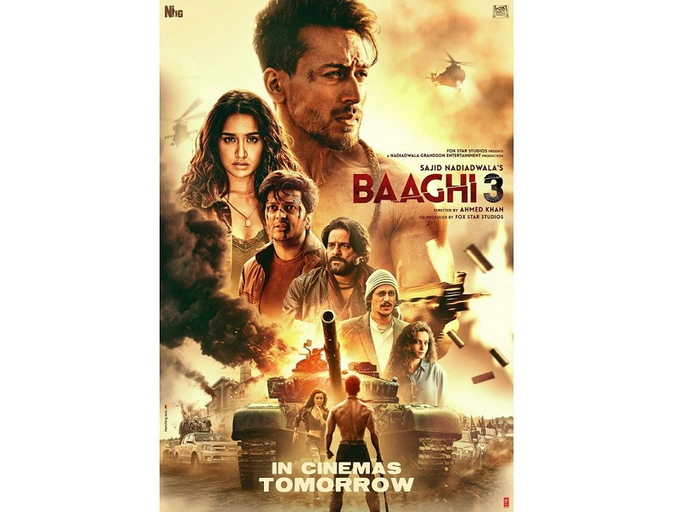'Baaghi 3': Ahead of the film's release, Tiger Shroff unveils a new intriguing poster