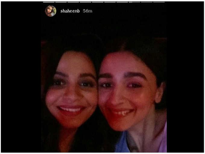 Sister goals! Alia Bhatt and Shaheen Bhatt pose for a happy selfie post movie screening