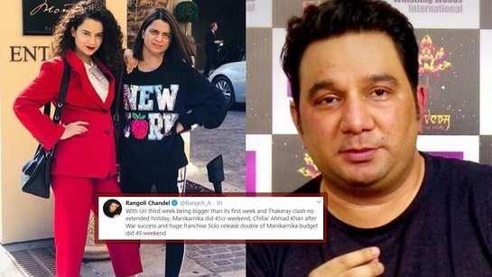 Kangana Ranaut's sister Rangoli Chandel lashes out at 'Baaghi 3' director Ahmed Khan for commenting on 'Manikarnika'