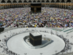 The sacred Kaaba at Mecca