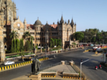 Road outside CSMT station wears deserted look
