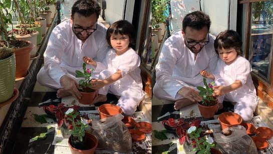 Janta Curfew: Kareena Kapoor Khan shares pictures of her boys Saif Ali Khan and Taimur doing their bit amid coronavirus scare