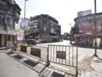 Laxmi Road is empty
