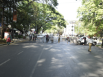 Barricades on JM Road