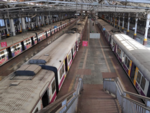 Local trains at CSMT Station