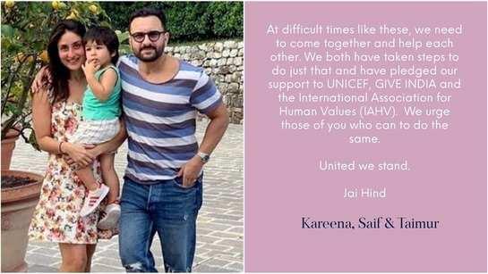 Kareena Kapoor Khan and Saif Ali Khan pledge support to help fight against COVID-19