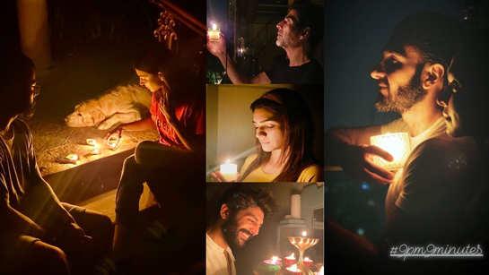 #9pm9minutes: From Anushka Sharma-Virat Kohli, Deepika Padukone-Ranveer Singh to Akshay Kumar, Kartik Aaryan, Alia Bhatt, Bollywood celebrities take part in Prime Minister Narendra Modi's light-a-candle initiative amid croronavirus lockdown