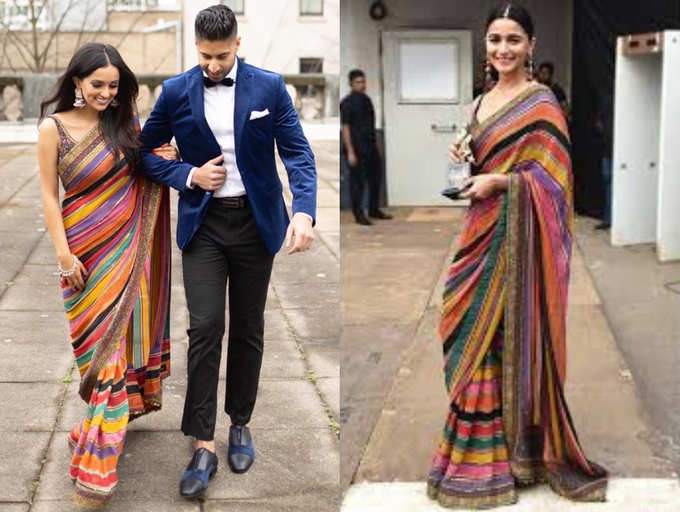This Bride Wore A Sari Worn By Alia Bhatt For Her Pre Engagement Celebration In Canada The Times Of India