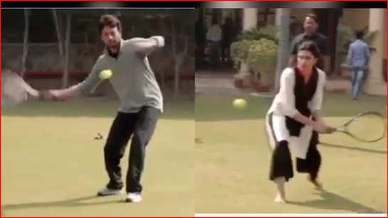 When Deepika Padukone played tennis with late Irrfan Khan