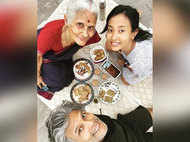 Milind Soman enjoys a terrace party with mother and wife during the lockdown on Mother's Day