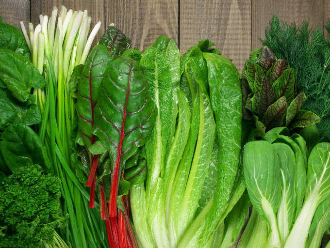 various green, leafy vegetables as the 4th on the list of foods that can prevent/ manage hypertension/ high blood pressure