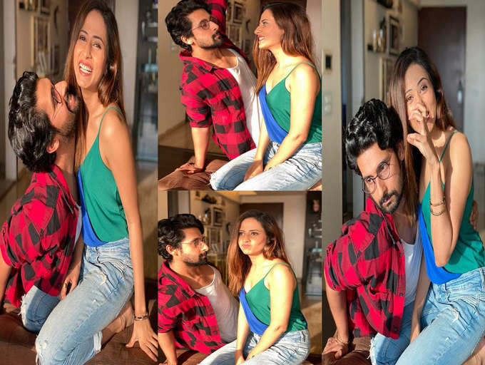 ​These goofy pictures of Sargun Mehta and Ravi Dubey will bring a smile to your face