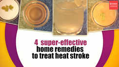 4 super-effective home remedies to treat a heat stroke
