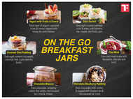 On the go breakfast jars