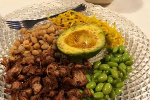 Jackfruit, Edamame and Zucchini Platter