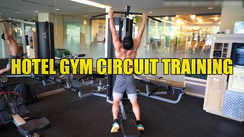 Circuit training in the hotel gym
