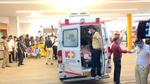 Kesrisinh Sonalki arrives in ambulance