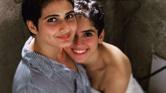 Fatima Sana Shaikh reacts to rumours of her dating co-star Sanya Malhotra