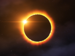 How is the annular solar eclipse different from the total solar eclipse