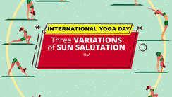 Three variations of a Sun Salutation