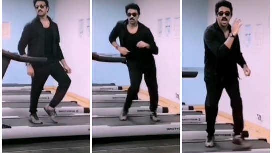 Ashwin Kumar shakes a leg for Vijay's 'Vaathi Coming' on a treadmill