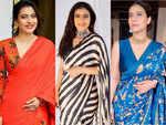 Kajol and her endless affair with printed saris