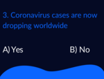 ​Coronavirus cases are now dropping worldwide