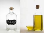 White vinegar and Olive oil