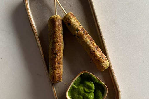 Soyabean, Pea and Oat Kebabs