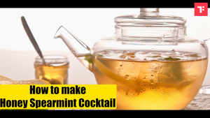 Watch: How to make Honey Spearmint Cocktail