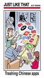 Trashing Chinese app