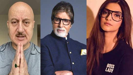 Amitabh Bachchan, Abhishek Bachchan test COVID-19 positive: Anupam Kher, Sonam Kapoor, Bhumi Pednekar and other celebs wish them speedy recovery