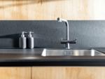 Crowded kitchen slab