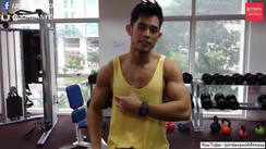 Chest training at the gym