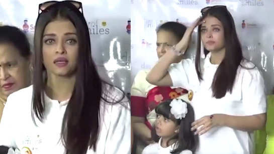 Aishwarya Rai Bachchan's tears could not be controlled by screaming paparazzi for causing chaos in hospital