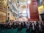 Turkish President Recep Erdogan attends Friday prayers