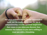​The glory of friendship