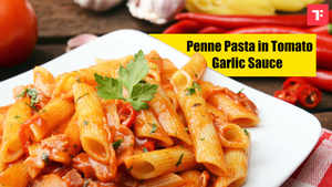 Watch: How to make Penne Pasta in Tomato Garlic Sauce