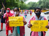 ASHA workers hold protest in New Delhi